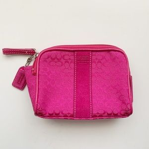 Coach Fuchsia Pink Small Kit - NEW Without Tags